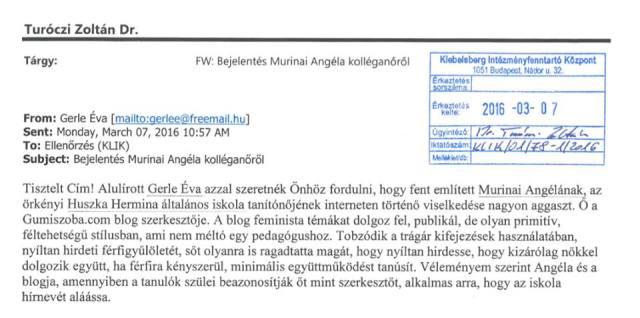 gerle - angéla gumiszoba hol tanít megírja